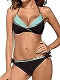 heekpek Brasileños Bikini Push Up Traje de baño de Cintura Baja Bañador Dos Piezas Mujer...