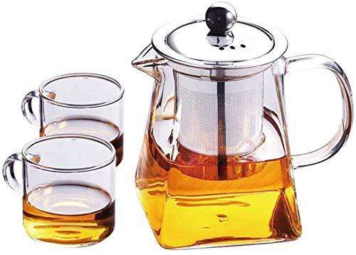 Tetera de Tetera Filtro de Acero Inoxidable Resistente al Calor Resistente al Calor Vidrio de Alta Temperatura Té pequeño té de té Negro Taza de té (Size : 700ml)