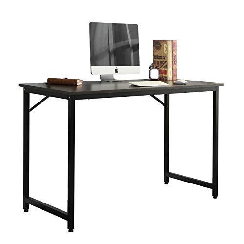 sogesfurniture Escritorio para Ordenador Moderno Mesa de Computadora Escritorio de Oficina Mesa de Trabajo Mesa de Estudio de Madera y Acero, 100x50x75cm, WK-JJ100-BK-BH
