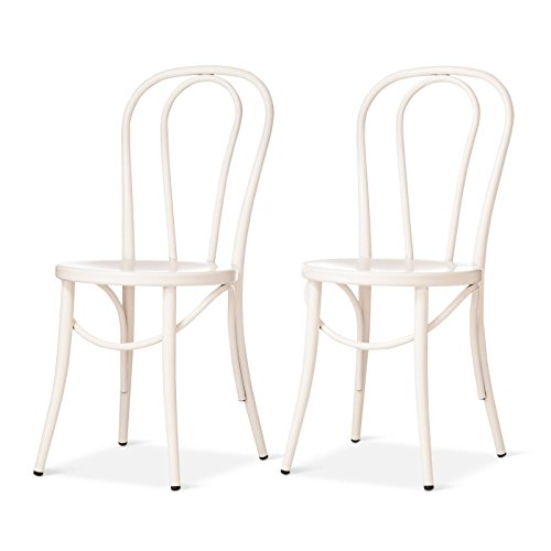 Set of 2 Emery Metal Bistro Chair Off White - Threshold™