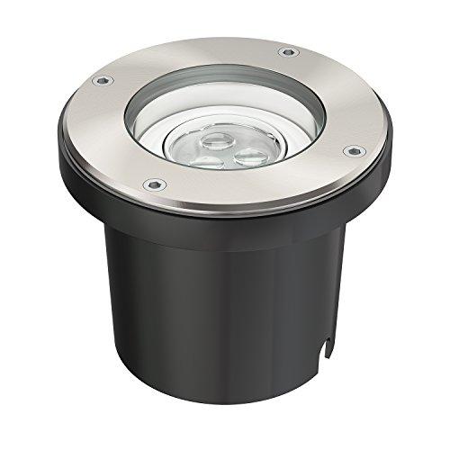 parlat LED Boden-Einbauleuchte für außen, schwenkbar, warm-weiß, IP67, 230V, 150mm Ø