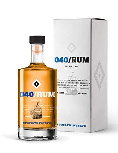040 Rum inkl. Geschenkverpackung - Karibischer Rum des HSV - 15 jährige Reifung im Eichenfass (1 x 0,5l)