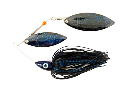 Nichols Lures Pulsator Metal Flake Double Willow Spinnerbait, Red Shad, 1/2-Ounce