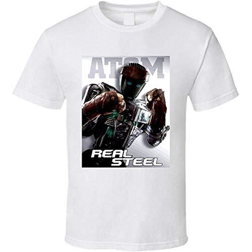 ATAT-1 Men's Real Steel Atom Movie Summer T Shirt Short Sleeve