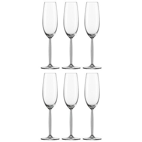 Schott Zwiesel 104100 Sektglas, Sektkelch 'Diva', 220ml, H 25,3cm (6 Stück)