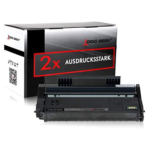 2 Toner kompatibel für Ricoh SP 112 Laserdrucker SP 112SU Aficio SP 100 e, Schwarz