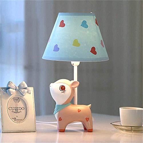 Lámparas de escritorio Habitación de los niños Lámpara de mesa de ciervo rosa de dibujos animados Lámpara de noche para dormitorio Moda creativa Lámpara de mesa decorativa linda y cálida para niñ