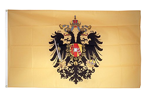 Fahne / Flagge Österreich-Ungarn 1815-1915 + gratis Sticker, Flaggenfritze®