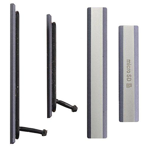 BisLinks® Für Sony Xperia Z2 D6502 D6503 Mikro SD + SIM Karte USB Aufladen Port Cover Schwarz