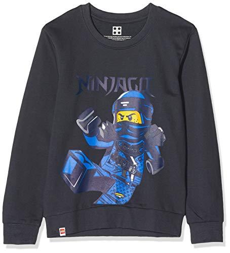 LEGO Jungen cm Ninjago Sweatshirt, Grau (Dark Grey 965), (Herstellergröße: 122)