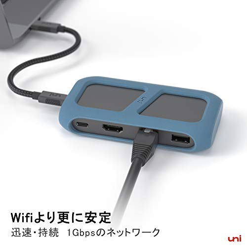 41Y+REaxKbL-「uni USB Type-C HUB 8ポート」を購入したのでレビュー!Chromebookにちょうど良いUSB-Cハブ