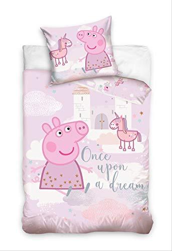 Peppa Pig Kinder-Bettwäsche 100x135cm PP192019