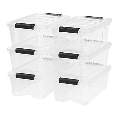 IRIS 12 Quart Stack & Pull Box, 6 Pack