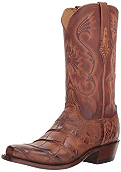 Lucchese Mens Rio Alligator Snip Toe Western Cowboy Dress Boots Mid Calf - Brown - Size 11 2E