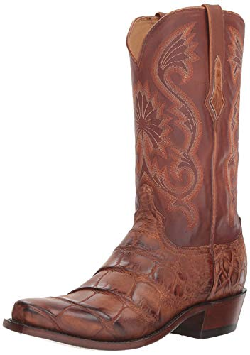 Lucchese Bootmaker Men's Rio Western Boot, Antique Brown, 11 D US