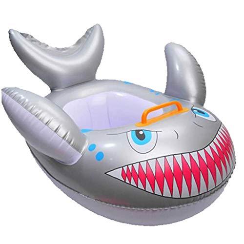 Tiburón En Forma De Bebé Flotador De La Piscina De Dibujos Animados Anillo De Seguridad Inflables Piscina para Los Niños Toddles Piscina Accesorios