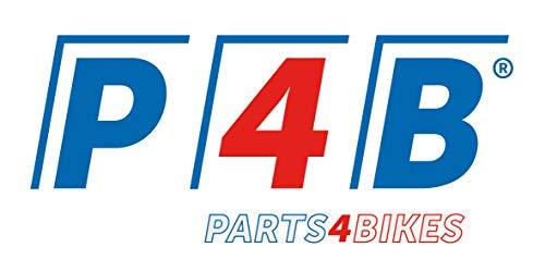 P4B | KURBELGARNITUR mit Stahl - Kettenblatt | 38 Zähne | Kurbellänge = 170 mm | 1/2 x 3/32 | für JIS-Vierkantachse | Garnitur mit LINKER+RECHTER Kurbel | Aluminium Kettenradgarnitur - 2