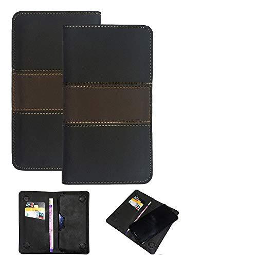 K-S-Trade Handy Hülle Kompatibel Mit Allview Soul X6 Xtreme Schutzhülle Walletcase Bookstyle Tasche Schutz Hülle Handytasche Wallet Cover Kunstleder Snapcase Dunkelbraun, 1x