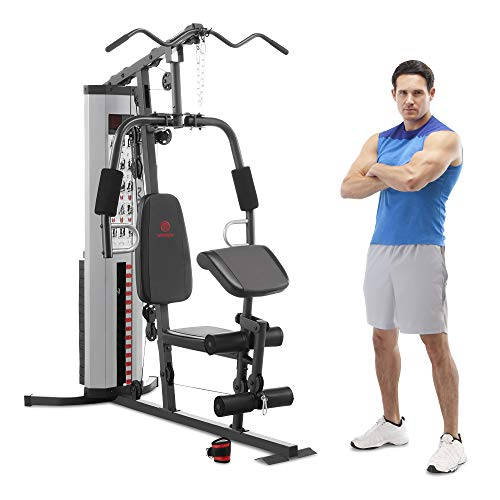 Marcy MWM-988 Multifunction Steel Home Gym 150lb Weight Stack...