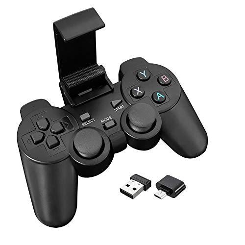 Drahtloses Gamepad für Android-Telefon / PC / TV-Box Joystick 2.4G Joypad-Gamecontroller für Xiaomi-Smartphone Wireless Controller? schwarz