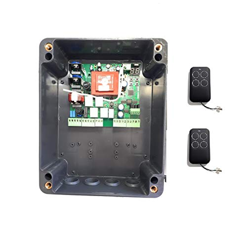 Kit central cuadro maniobras universal garaje puerta batiente de 1 o 2 hojas para motores de 220v