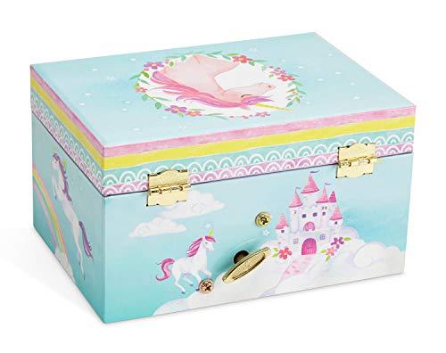 Jewelkeeper Girl's Musical Jewelry Storage Box with Spinning Unicorn, Rainbow Design, The Unicorn Tune 8