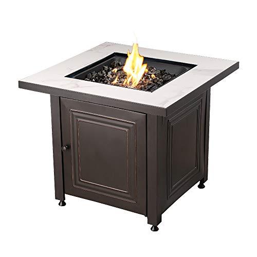 Endless Summer 31.4-in W 50000-BTU Black/Grey Tabletop Steel Propane Gas Fire Table -  Blue Rhino, GAD15261SP