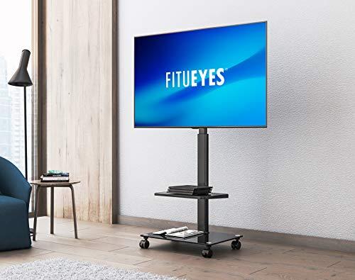 『FITUEYES テレビスタンド 32~55インチ対応 キャスター付き 二段 高さ角度調節可能 移動式 ブラック TT206002GB』の6枚目の画像