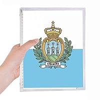 サンマリノの国旗は、ヨーロッパの国 硬質プラスチックルーズリーフノートノート