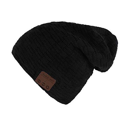 E-More Bluetooth Mütze, Wireless Bluetooth Hut Mütze Frauen Männer Winter Warme Hüte mit Kopfhörer Headset Mic Lautsprecher für Laufen, Skifahren, Skaten, Wandern