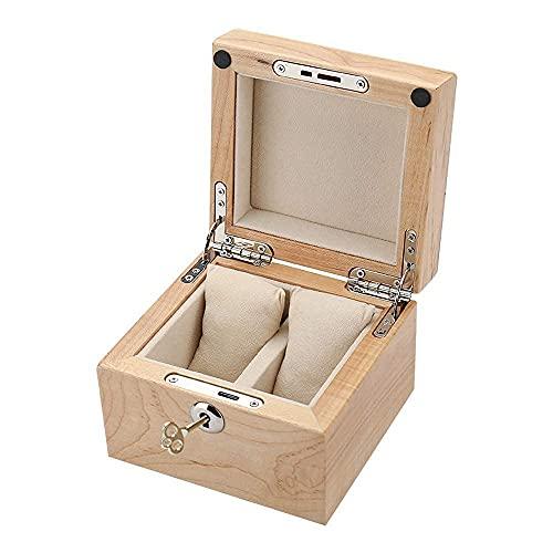 JIANGCJ Bella Reloj Box Organizer Case Fits 2 Relojes DE Pantalla DE Pantalla DE Pantalla DE Pantalla SÓLIDO Regalo DE Madera DE CERRÍA ROJA para Hombres