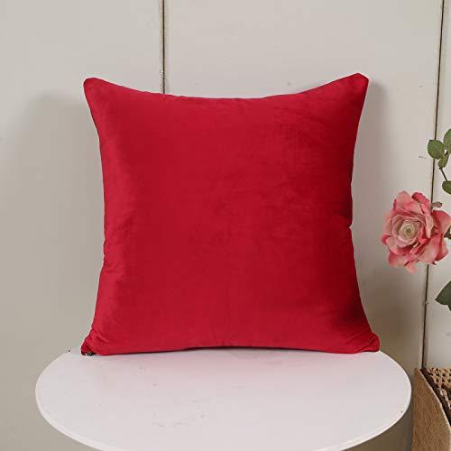 Oukeep La Funda de Almohada de Color sólido de Franela es Adecuada para la Oficina, Funda de Almohada de sofá de Tela para el hogar