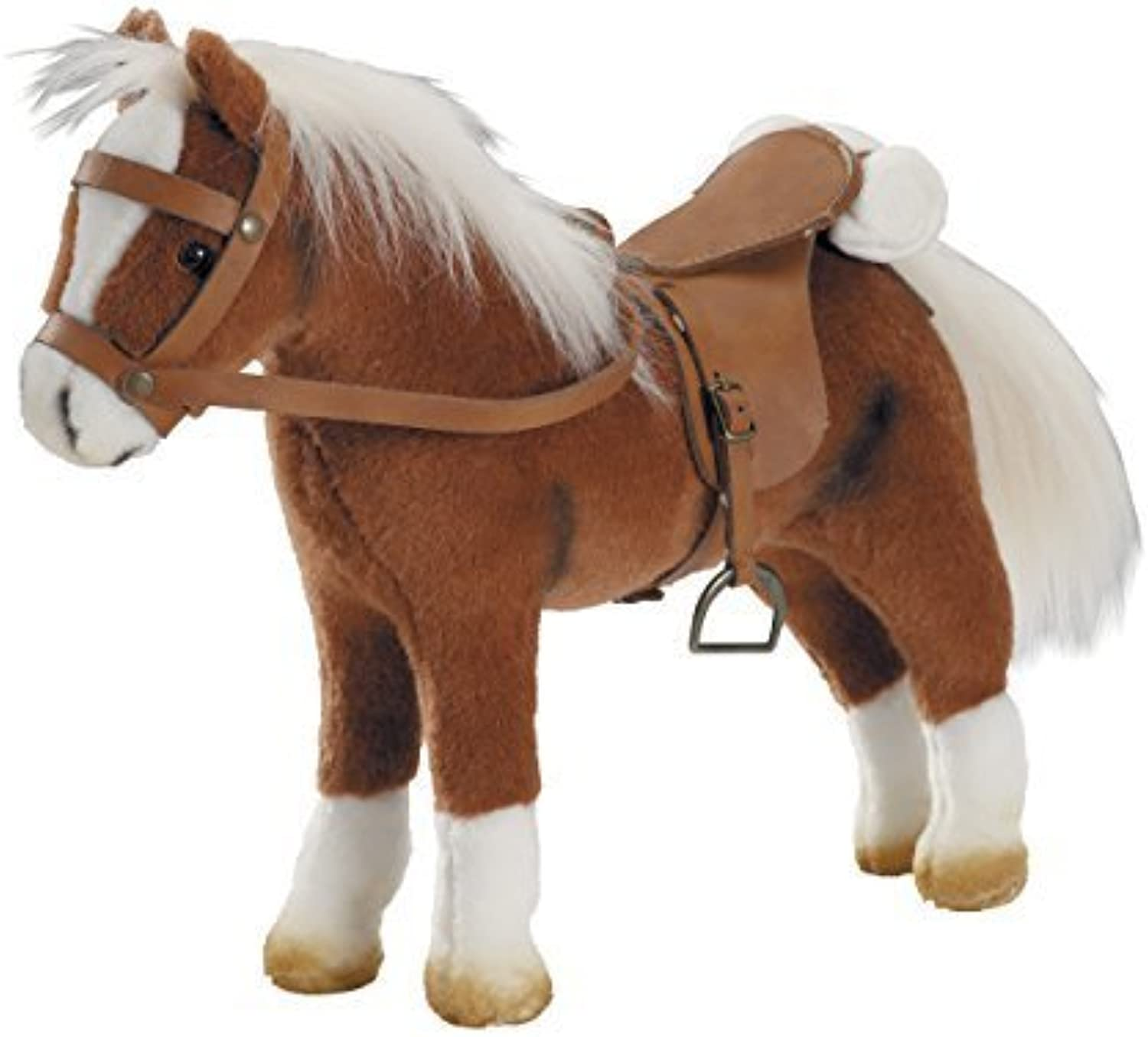 Horse, Plush, with Harness And Saddle, Bendable by Gkz