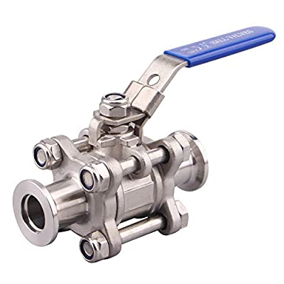DERNORD KF-40 Vacuum Ball Valve 304 Stainless Steel Clamp Valve with Locking Device by DERNORD