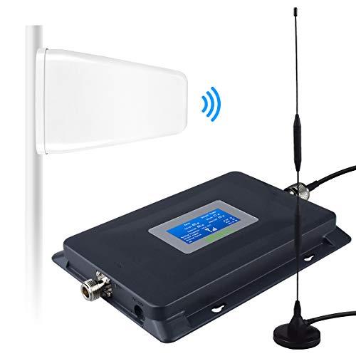 ATT Verizon Signal Booster for Home 4G LTE ATT Cell Booster AT&T Verizon Cell Phone Signal Booster T-Mobile Straight Talk Cricket U.S. Cellular 700MHz Band 12/13/17, Enhance 4G LTE Data&Voice Signal