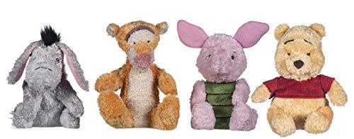 Price Toys Winnie Puuh Kuschceltiere | 18cm Winnie The Pooh, I-Ah, Ferkel und Tigger Plüschtier | Christopher Robin Stofftier-Sammlung (Pooh / Piglet / Tigger / I-Ah)