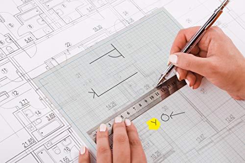 A4, 5mm Grid-Tracing-Papier-Pad, 90 g / m², 40 Blatt, Professional Range