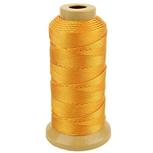 Twisted Nylon Linie Schnur String Cord für Gartenarbeit Marking DIY Projects Crafting Mauerwerk (Gold, 1mm-656 feet)