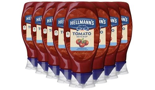 Hellmann\'s Tomaten Ketchup Zuckerreduziert im Squeezer, 8er Pack (8 x 430 ml)