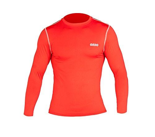 Gedo CAT003–Shirt Langarm Unisex, Unisex, rot, XXXS