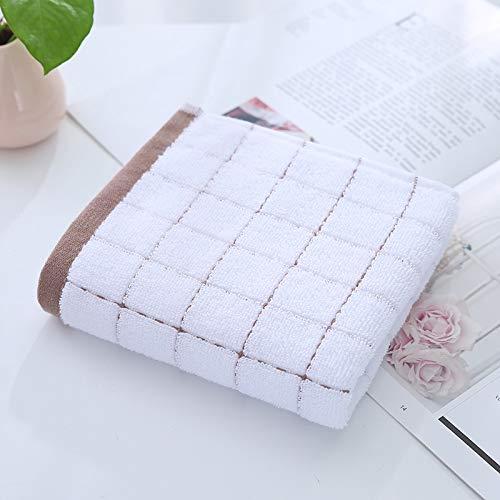 CMZ Toallas de algodón Puro, Toallas de Jacquard Lisas diarias para el hogar, Toallas Suaves y absorbentes, Toallas de algodón Puro (34x72cm)