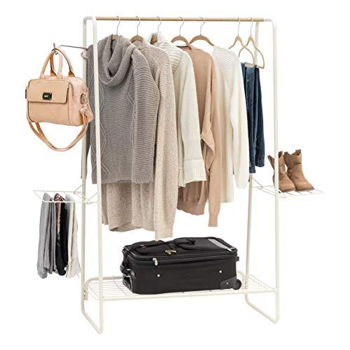 IRIS USA PI-B5-L Metal garment and accessories rack Large White