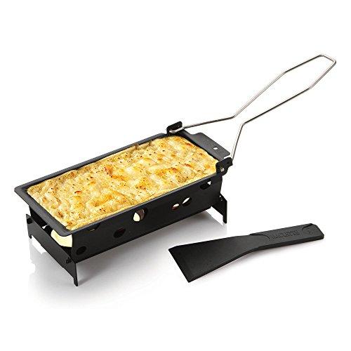 BOSKA Raclette-Set Partyclette to Go Explore 6-teilig, Edelstahl, Silber/schwarz, 19 x 10 x 5 cm, 6-Einheiten