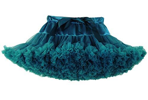 Happy Cherry - Falda de Tutú para Bebés de Princesa Vestido de Tul de Capas de Volantes con Cinta de Bowknot para Danza Boda Fiesta Partido Disfraz para Infantiles Niña de 0-2 Años - Caqui