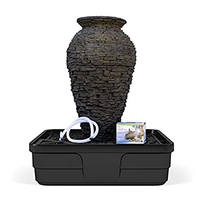 Aquascape Medium Stacked Slate Urn Water Fountain Kit for Landscape and Garden | 58090