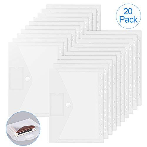 Dokumententasche A4,Dokumententasche mit Druckknopf,Dokumententasche Transparent,Sichttasche Lochrand,Sichttasche Klettverschluss,Brieftaschen Tasche für Organisieren