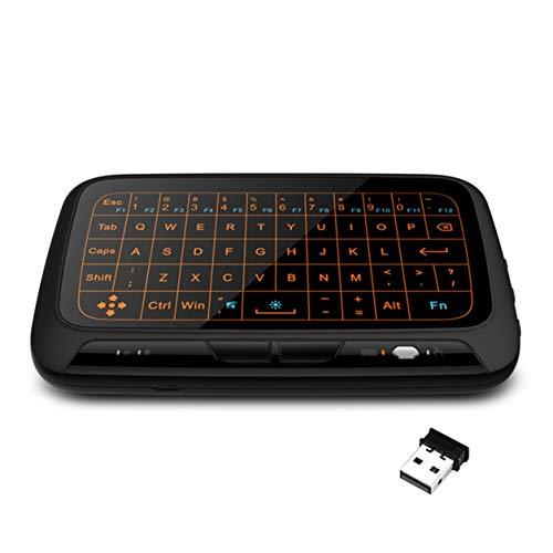 YXDS Teclado H18 + 2.4GHz Retroiluminación Mini Teclado inalámbrico Control Remoto Teclado táctil Combo para Smart TV para Android TV Box PC