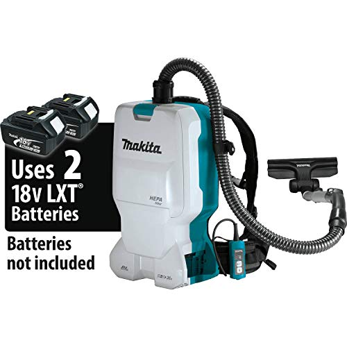 Makita XCV17Z 18V X2 LXT Lithium-Ion (36V) Brushless Cordless 1.6 Gallon HEPA Filter Backpack Dry Vacuum, Tool Only