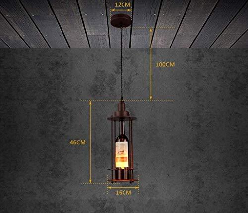 Chandelier Licht , Deckenpendelleuchten, Glasflaschen Kreativer Kronleuchter Retro Einfache Loft Restaurant Bar Bar Kunst Der Industriellen Tischlampen Nur E27,# 1