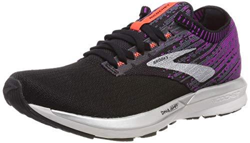 Brooks Damen Ricochet Laufschuhe, Schwarz (Black/Purple/Coral 080), 42 EU